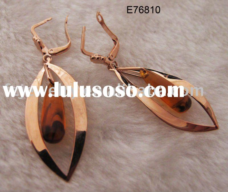 fashion rose gold earring