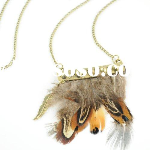 feather jewelry ,real feather necklaces ,paypal ,free shipping ,nl-1049