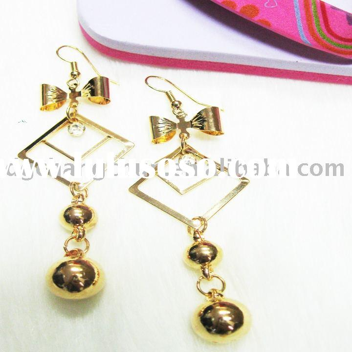 high quality /cheap price /Imitation Gold Bowknot  Earring