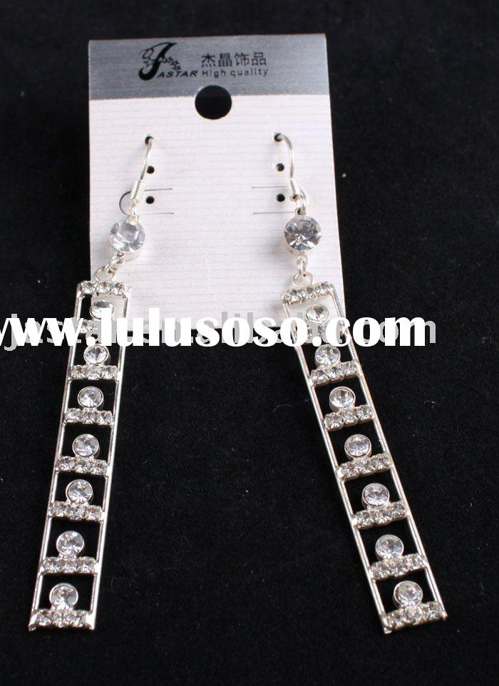 hot sale diamond rectangle earring