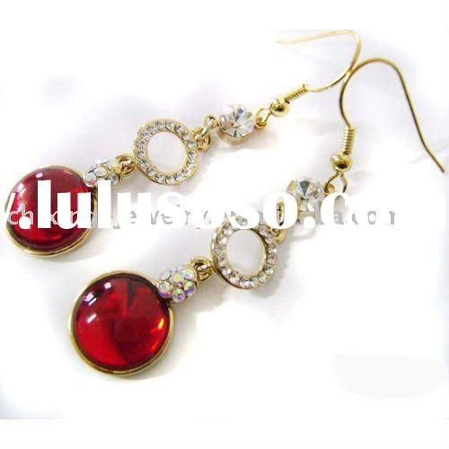 red color earrings