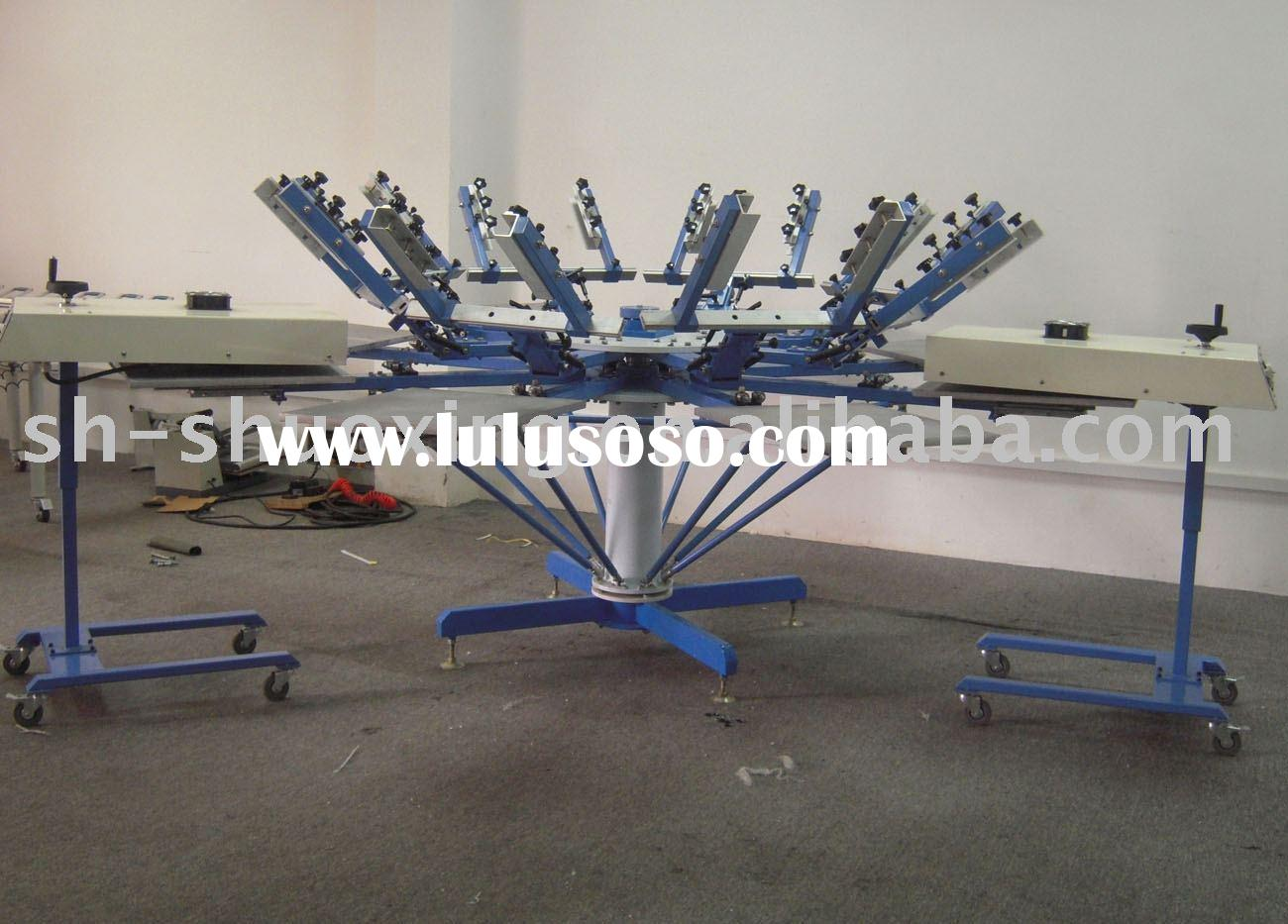 Rotary silk screen printing machine for sale t shirt for T shirt screen printers for sale