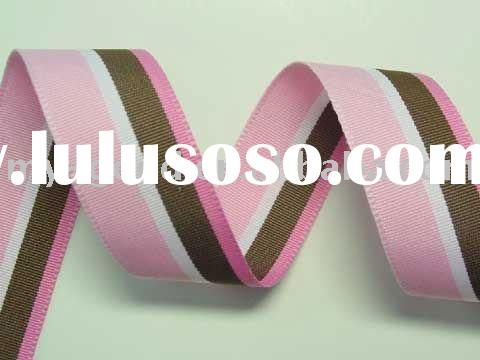 Pink bow satin ribbon/gold dust