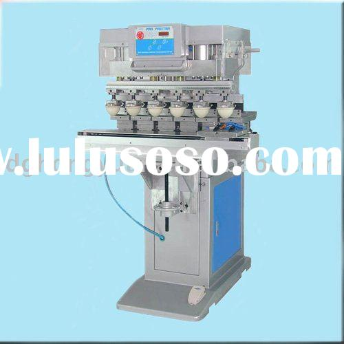 Pneumatic Six Color Pad Printing Machine