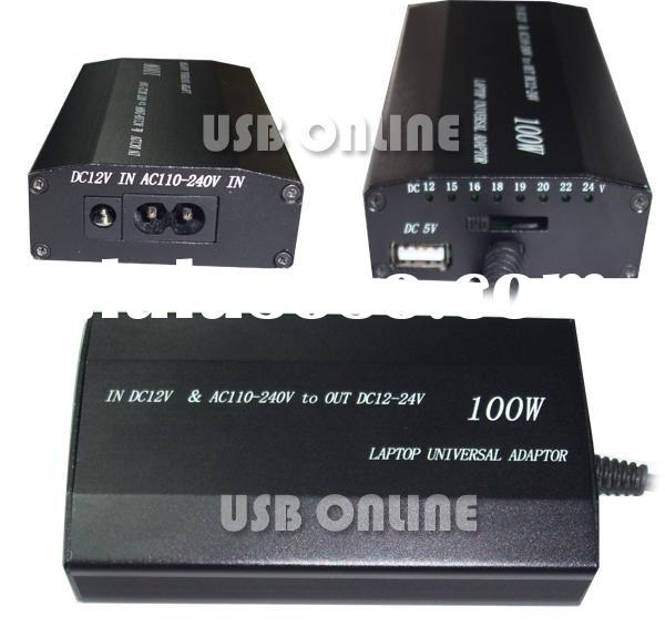 100W Universal car and home adaptor for laptop for laptop
