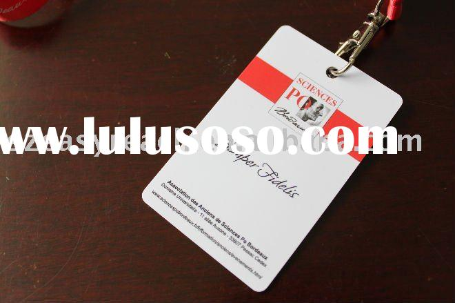HOT selling !!!PVC business card color printing