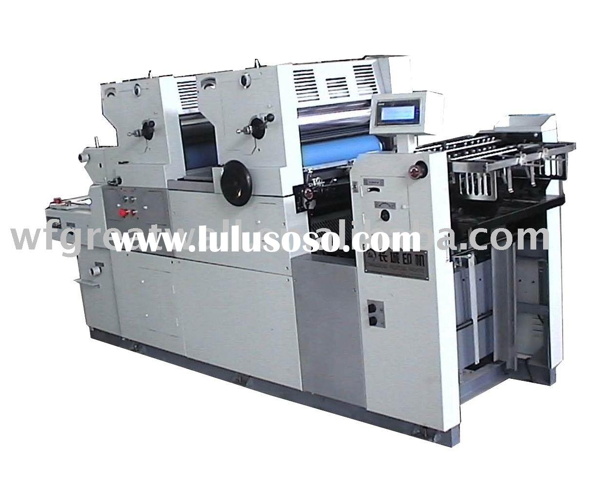 two color offset printing machine (supply technical support)
