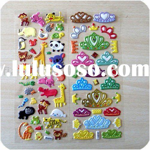 Crown Foam Puffy Stickers