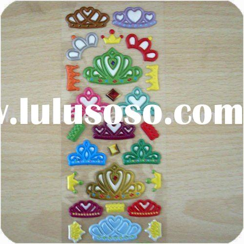 Crown Puffy Bubble Stickers