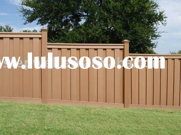 recycled wood plastic fencing