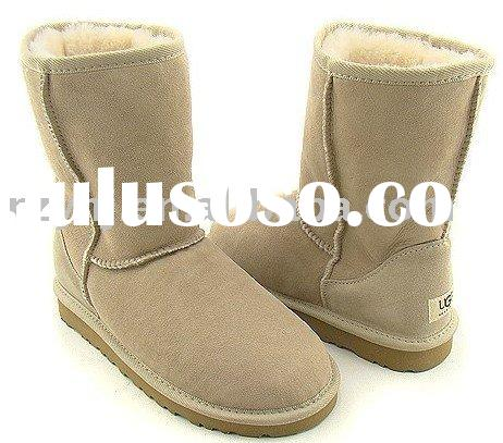 Most popular twin-face sheepskin half  boots for women