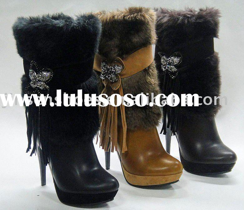 high heel hot sale lady boots for lady in2011 the most fashionable shoes