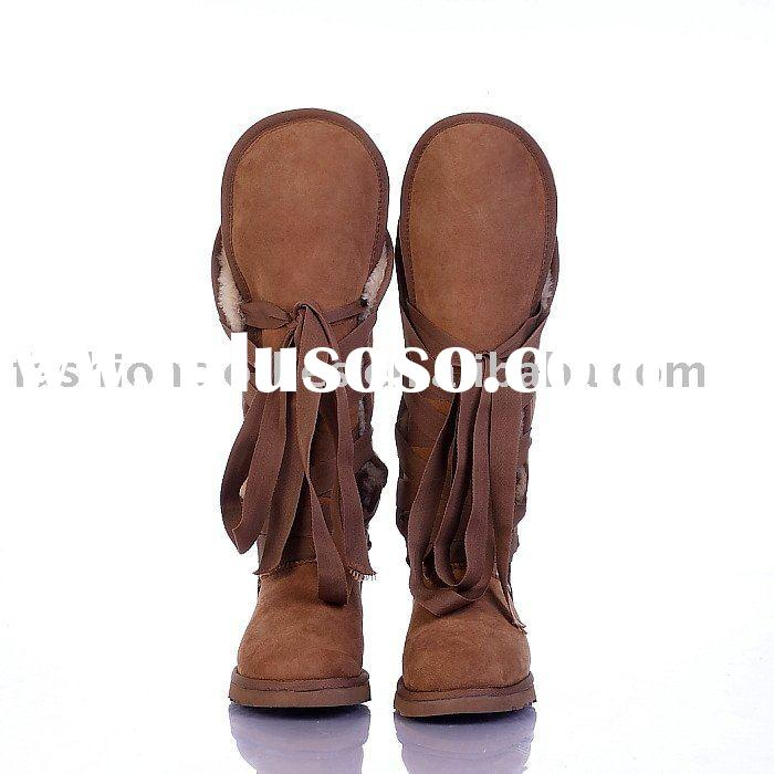 hot selling 2010 100% twin face sheepskin winter snow boots