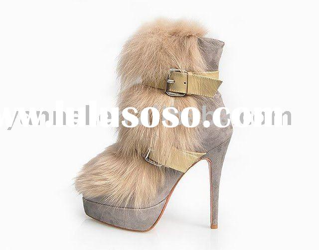 2010 newest fashion fur boots,high heel boot