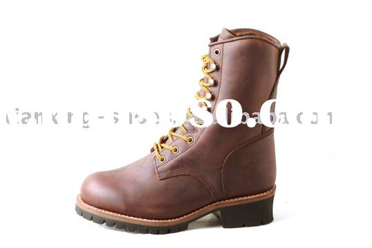 """8"""" Brown Logger Boots"""