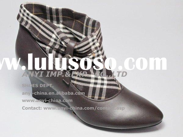 Fashion Ankle High Heel Women Boots Footwear Ladies Boots (AY691-1Brw)