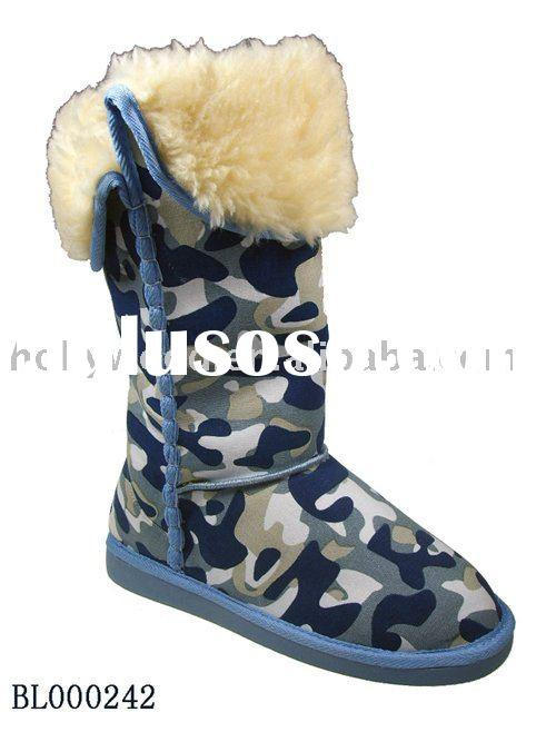 Fashion Camouflage Color Ladies winter boots