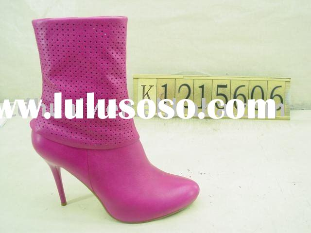 High quality leather boots ! women boots ,high heels