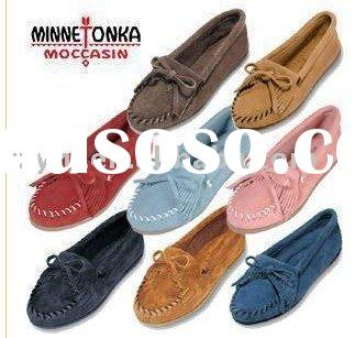 Hot saling women's Spring flat leather shoes to keep feet relax