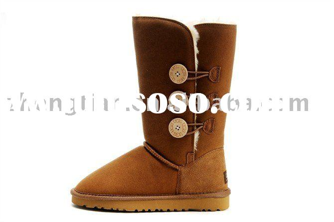 Suede Flat Boots
