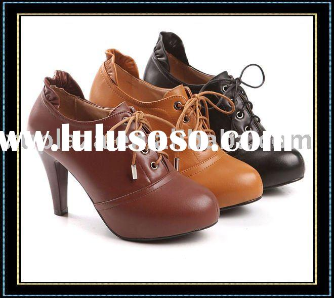Walk heel 100% Genuine Cow Leather Ankle Boots