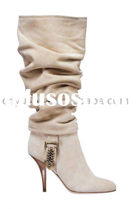 high heel keep warm fashion designe woman boots shoes