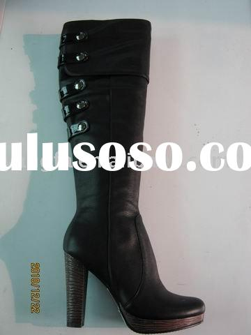 ladies fashion high heel boots with crystal high heel