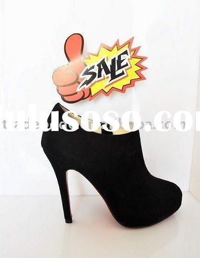 ladies high heel ankle boots hot sale