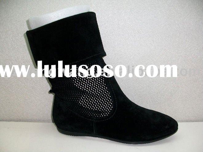 newest laser hole spring ladies casual boots