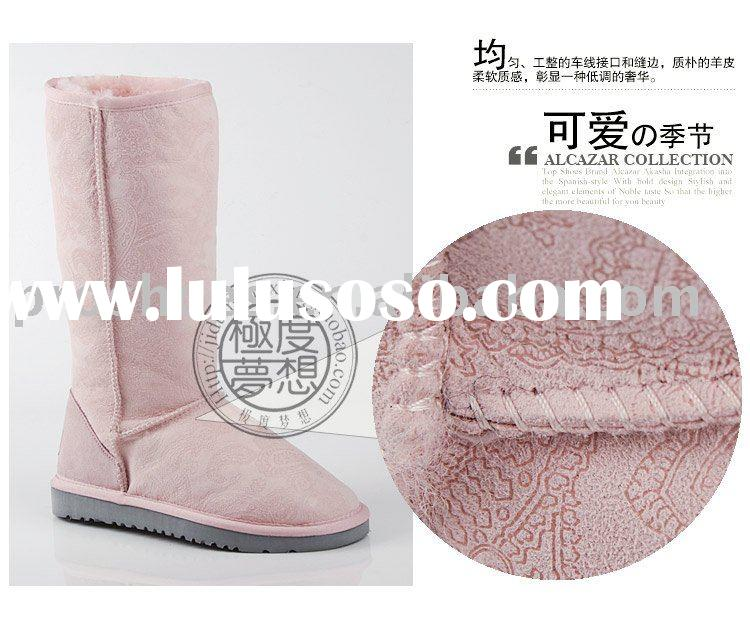 pink lovely winter sheepskin boots for lady . lovely  boots for girl