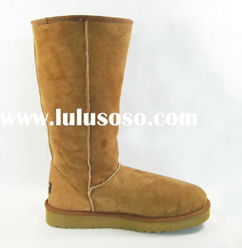 women leather boots with boa lining