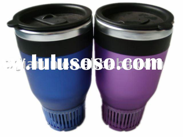12V hot coffee cup/stainless steel travel mug