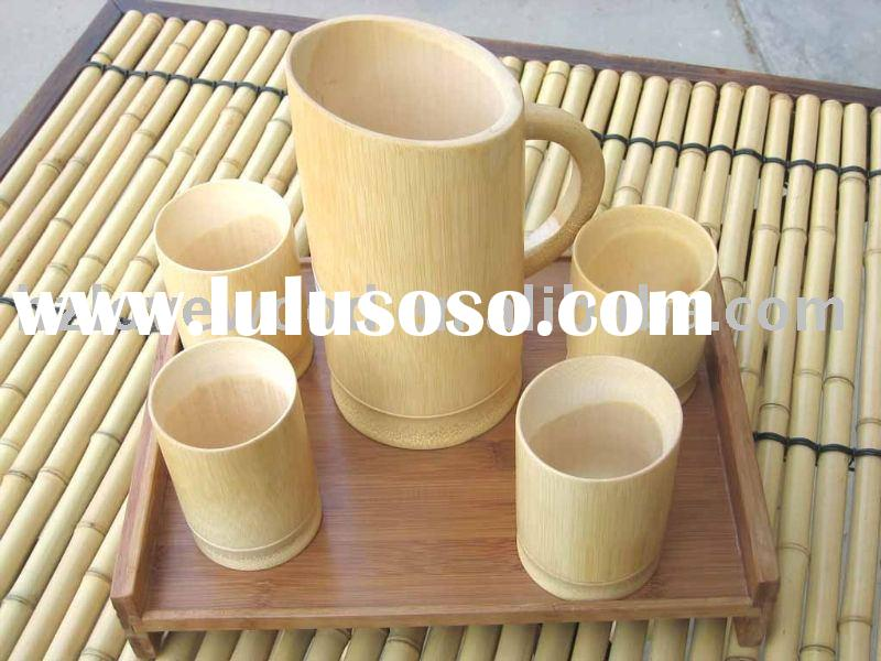 Bamboo Beer Mug and Cups