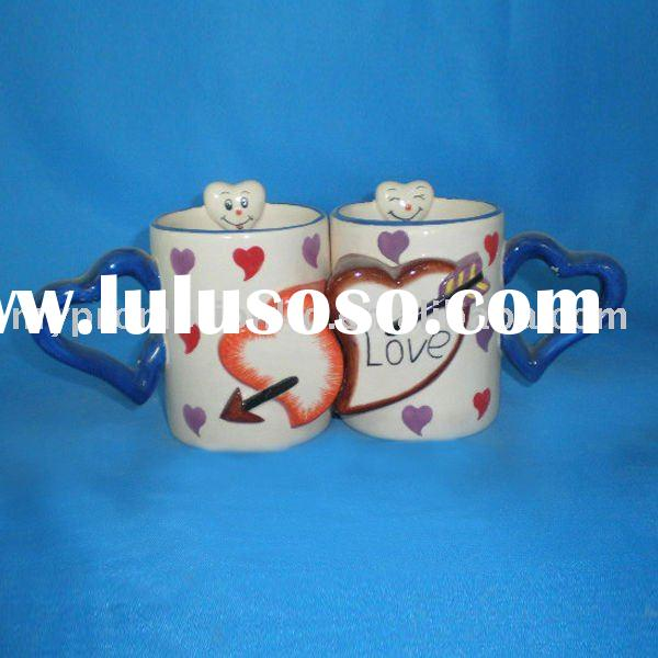 Ceramic heart design coffee mug,porcelain cup