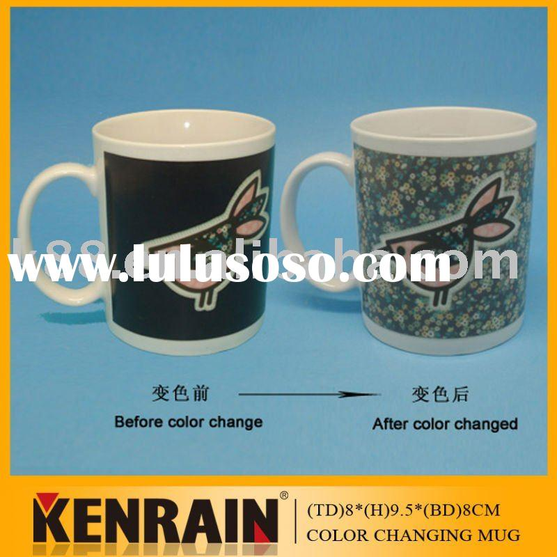 Color-changing mug/ceramic mug/Personalized coffee mug cup