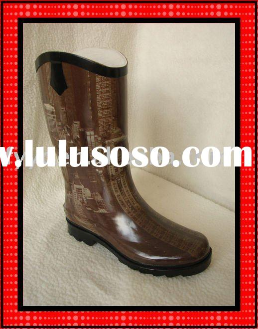 YC Fashion Lady fancy design cool rubber wellies half boots