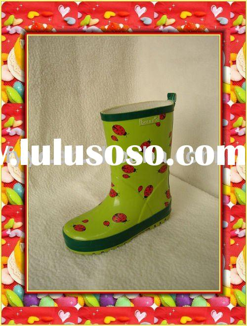 YC Kids adorable simple design cheap rubber rain boots
