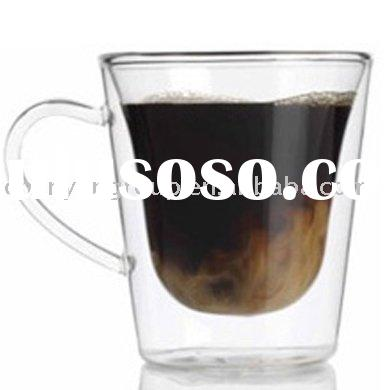 clear heat resistant glass coffee mug