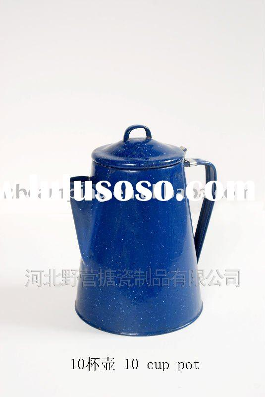 enamel coffee pot (10 cups)