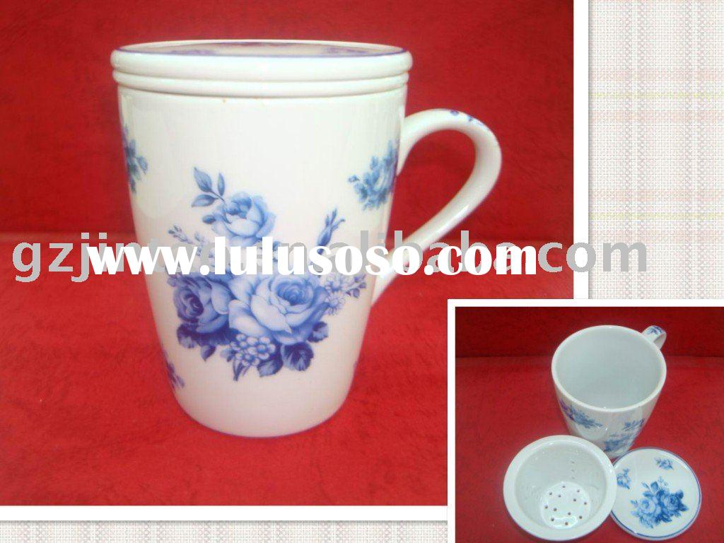 fine bone china coffee mug with lid