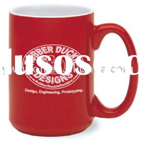 red color large ceramic coffee mugs