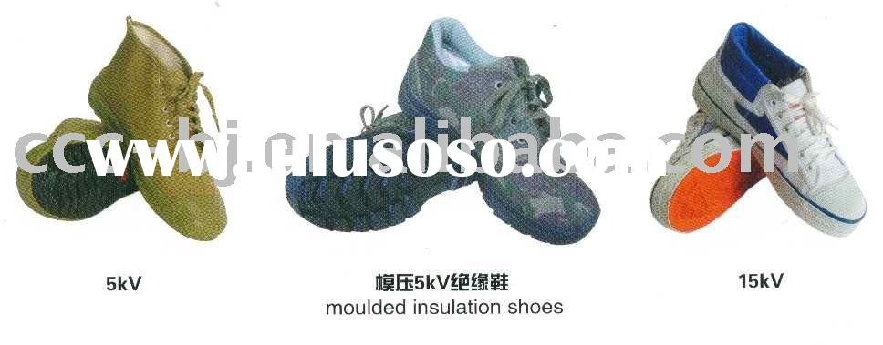 rubber insulated shoes
