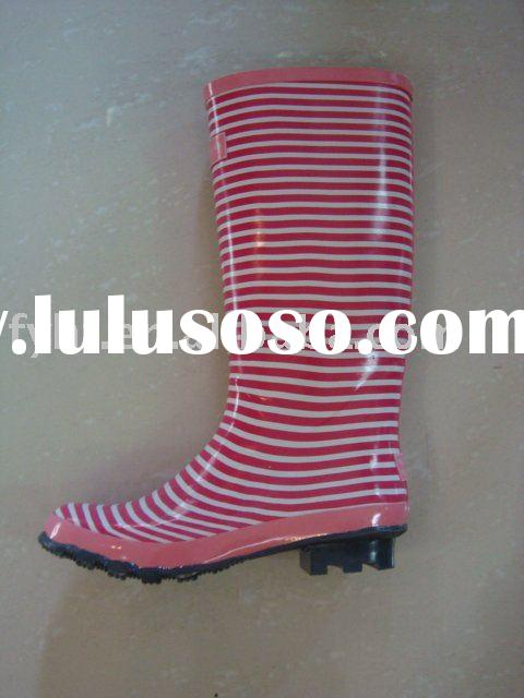 women rubber rain boot