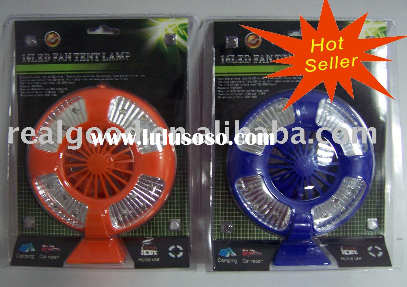 16 Led Fan Tent Lamp / Camping Light / Tent Light