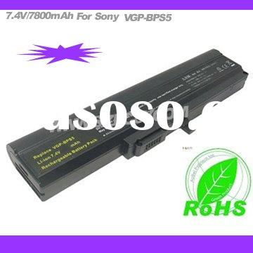 7800mAh notebook Battery Pack, battery for Sony Vaio VGP-BPS5 VGPBPS5 BPS5A BPL5 BPL5A