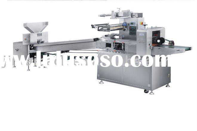 Candles flow wrapping machine