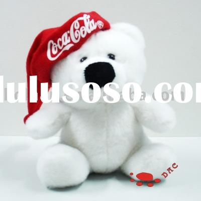 Coca cola promotion gift white teddy bear