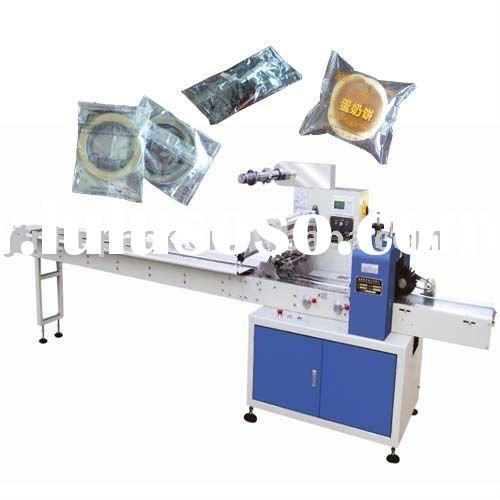 Food flow wrapping machine