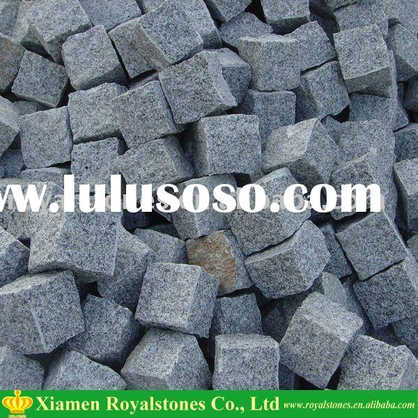 Granite paving stone in different colors
