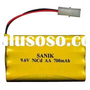 NI-CD AA 700mAh 9.6V rechargeable  battery
